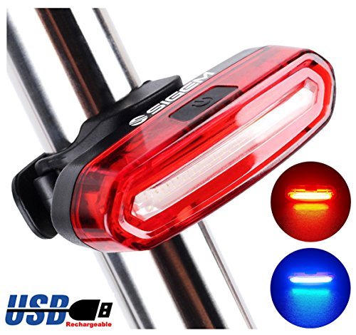 120 Lumens LED Bike Tail Light USB Rechargeable Powerful Bicycle Rear Light Lamp