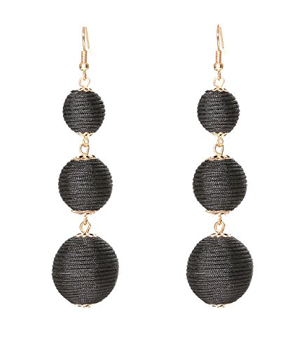 d23a7456af0d1b This beaded strands fringe dangle Earrings features stunning and bright  color beads allow you to be the focus of the balls, prom, engagements and  so on.