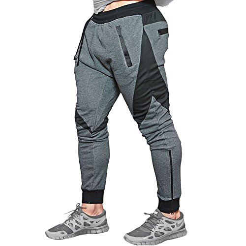 28e5e48b1bf ... Men s Gym Joggers Pants Casual Slim Fit Workout Sweatpants. Good  quality materials - the breathable and Lightweight fabric blend will keep  you cool ...