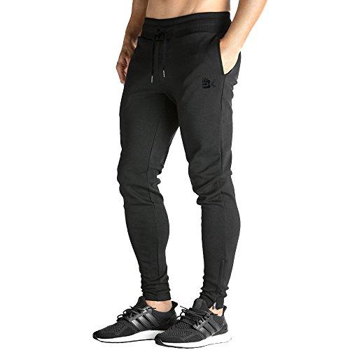 MECH-ENG Mens Gym Joggers Pants Casual Slim Fit Workout Sweatpants