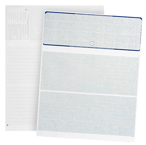Blank Check Paper Stock computer Check in Middle Linen Green Count//1000