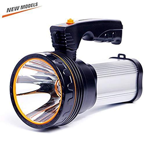 Olidear Rechargeable Spotlights Ultra Bright Flashlight LED Emergency headlight Handheld Searchlight for Outdoor Indoor golden