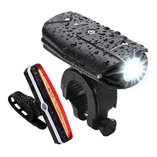 Bike light set Front Back waterproof headlight head tail brightest new bicycle